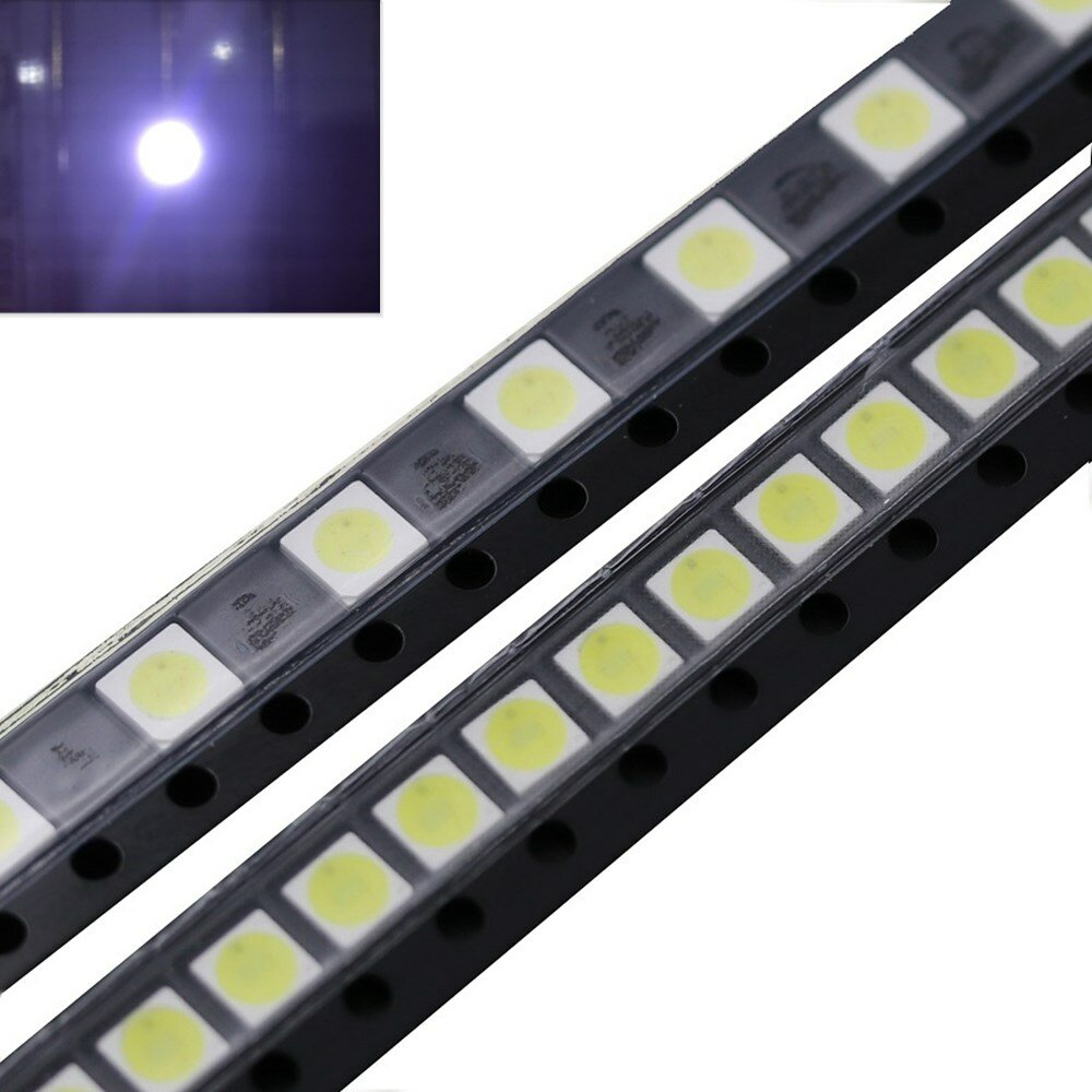 50PCS 2W 6V 3535 Cool White LED Light Beads For LG TV Backlight Repair Application