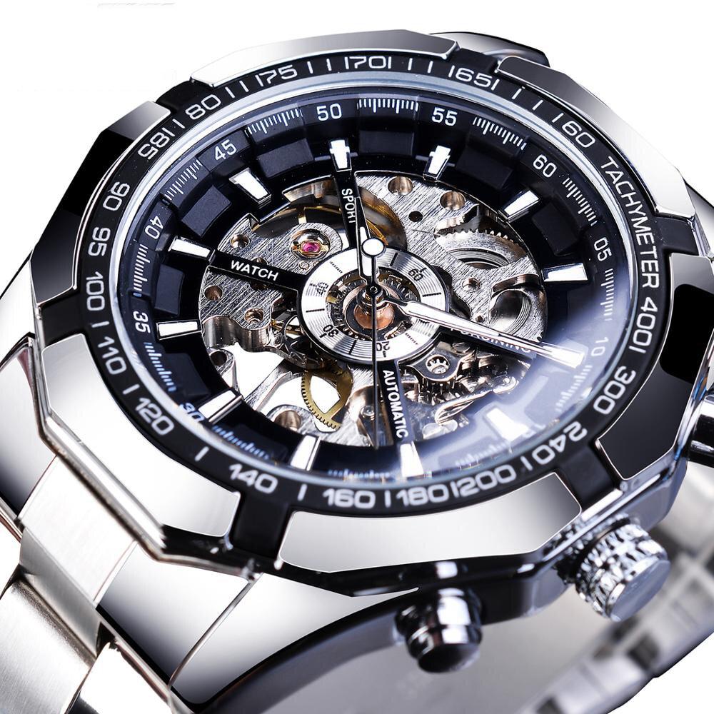 Forsining S101 Fashion Men Watch 3ATM Waterproof Luminous Display Mechanical Watch