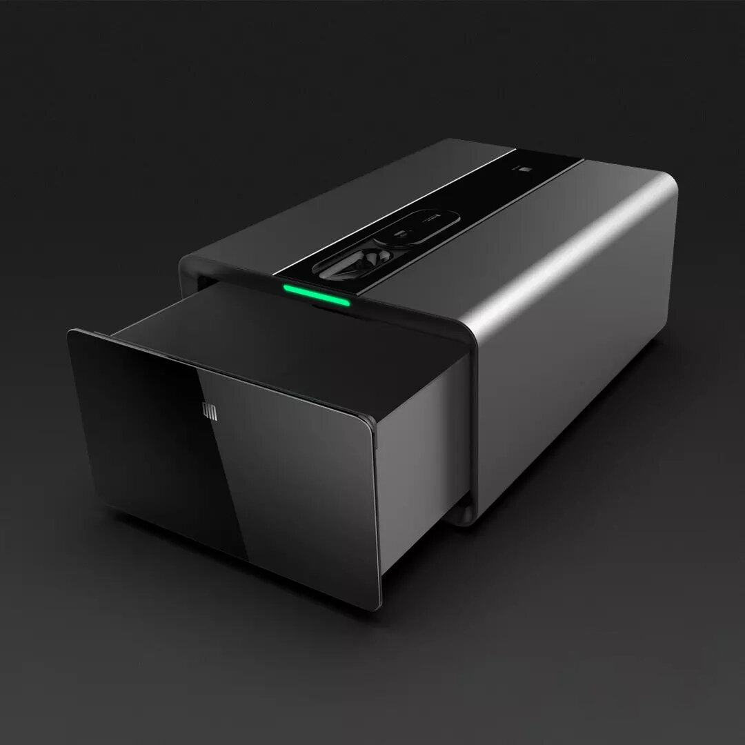 Qin PB-FV01 Smart Finger Vein Safe Box Intelligent bluetooth Remote Alarm Password Lock Storage Drawer from Xiaomi Youpin