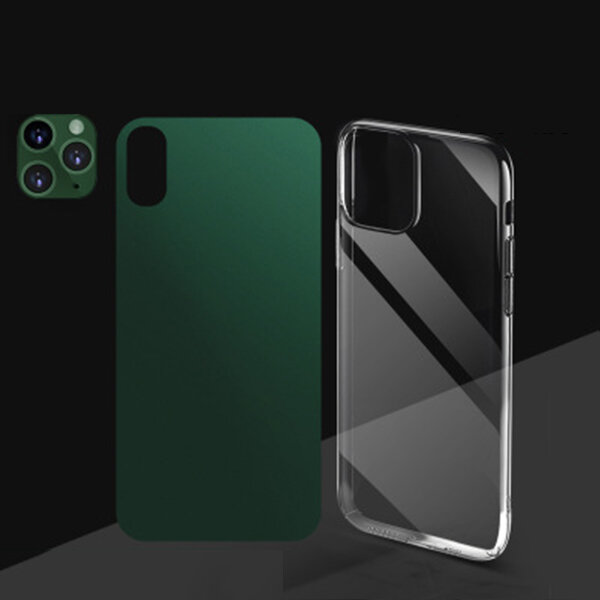 Bakeey 3 in 1 Converted Change XS Max to 11 Pro Max Second Change Anti-scratch Phone Camera Lens Protector + Rear Matte фото