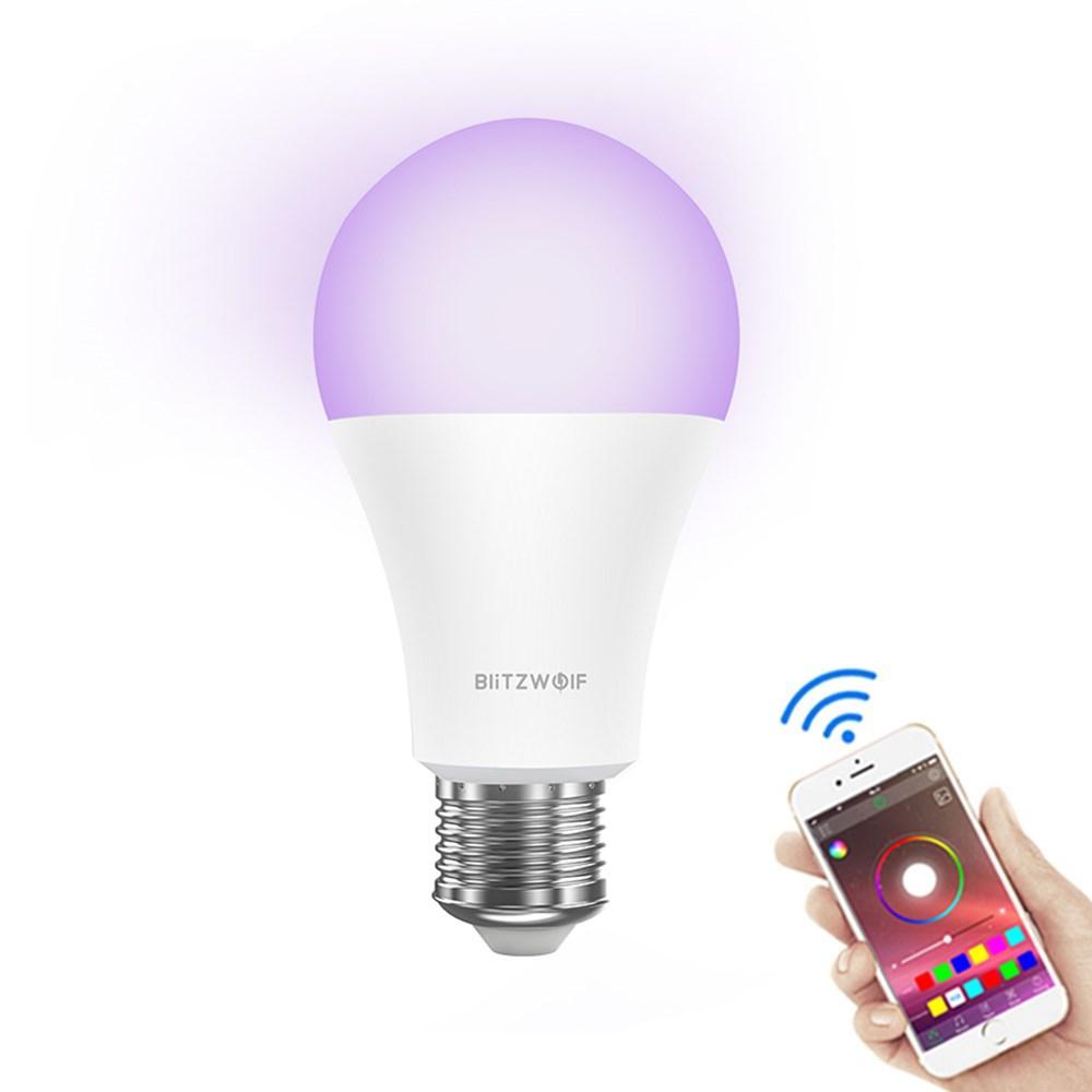 BlitzWolf® BW-LT21 RGBWW 10W E27 APP Smart luce a led Lampadina Lavora con Amazon Alexa Google Assistant AC100-240V