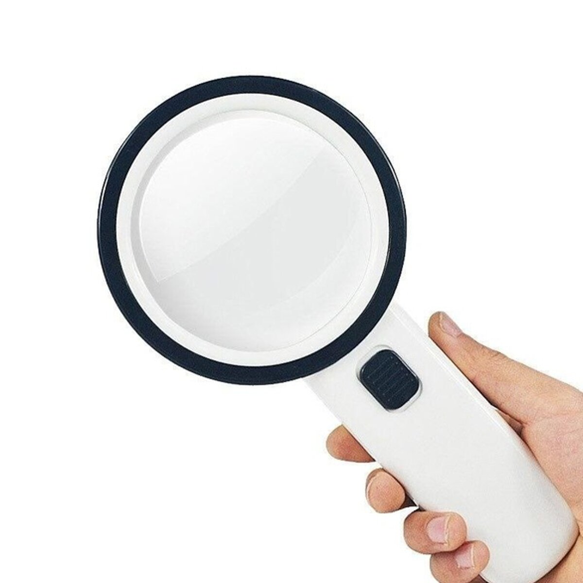 30X Illuminated Large Magnifier Handheld 12 LED Lighted Magnifying Glass for Seniors Reading Soldering Jewelry Exploring