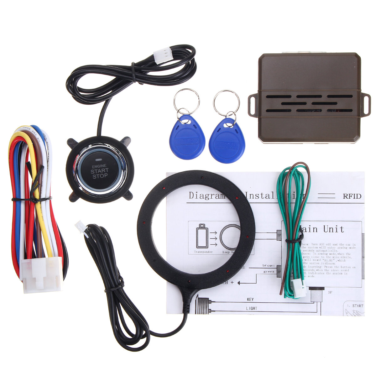 Engine Start Stop Keyless Entry System Pke Security Alarm