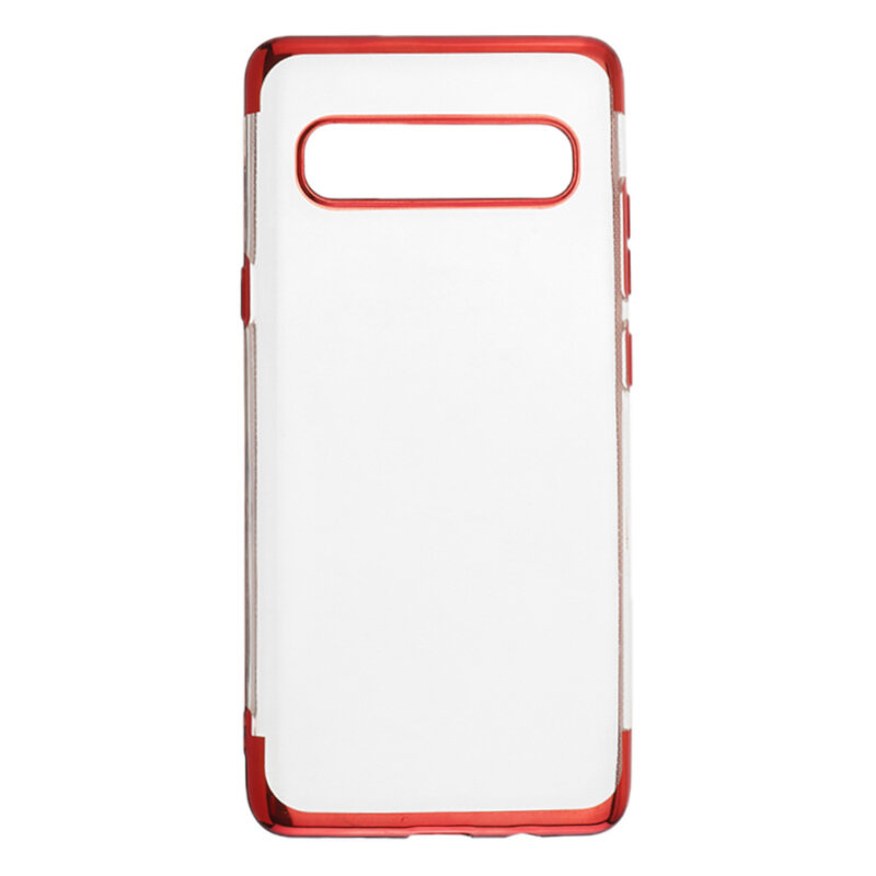 Image of Bakeey Shockproof Plating Bumper Soft TPU Transparent Protective Case for Samsung Galaxy S10 5G