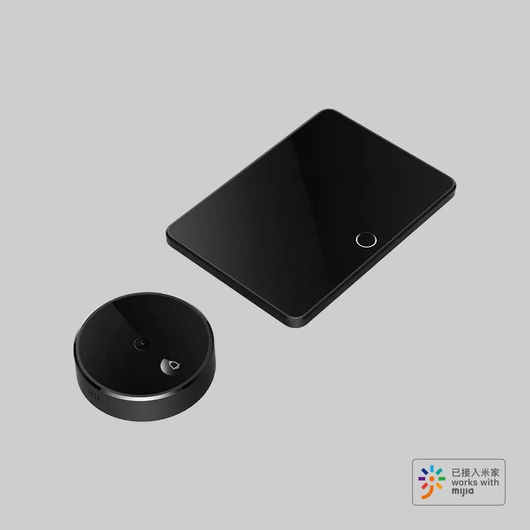 IMILAB M1 2MP 1080P 150° FHD Wireless Smart Cat-eye Video Doorbell with 5inch Touch Screen AI Face & PIR Movement Detection 5000mAh Rechargable Battery