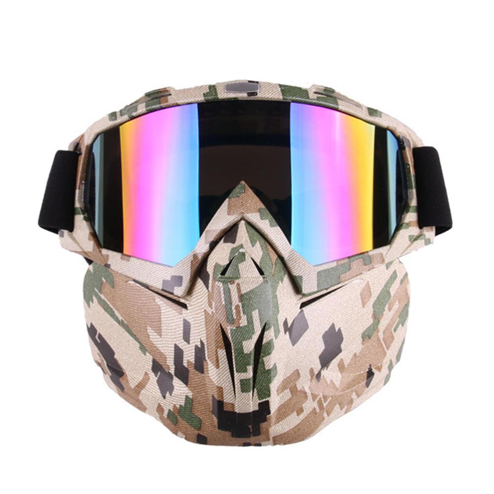Motorcycle Goggles Motocross Off-road ATV Dirt Bike Eyewear Color Film Glasses