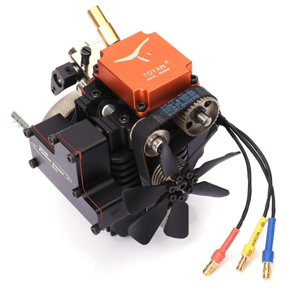 4 Stroke RC Mesin Model Bensin Mesin Kit Mulai Motor Untuk RC Mobil Boat Pesawat Toyan FS-S100G (w)
