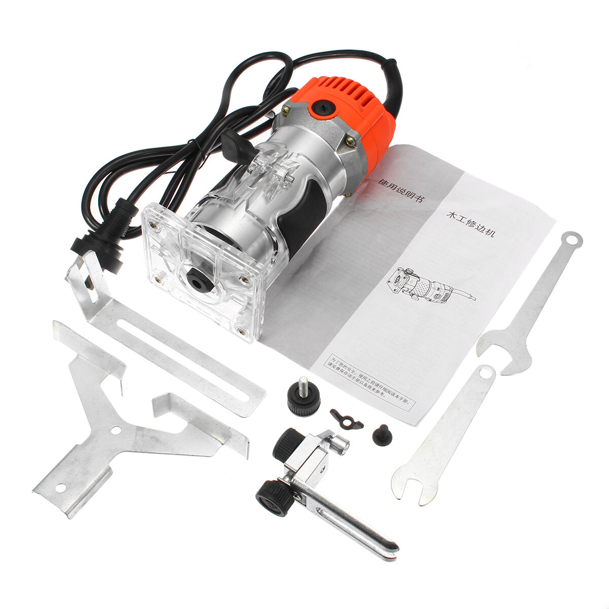 110V/220V 1200W 6.35mm Wood Laminate Palm Router Electric Hand Trimmer Edge Joiners...