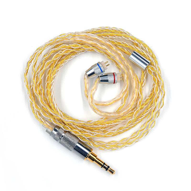 KZ Earphone Gold Silver Mixed Plated Upgrade Cable Headphones Wire for ZSN ZS10 Pro AS10 AS06 ZST ES4 ZSN Pro BA10