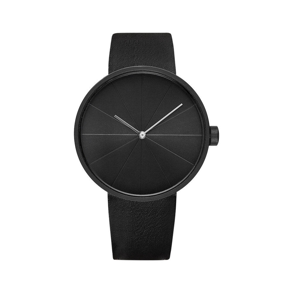 YAZOLE 520 The Turntable Simple Art Dial Leather Strap Men Casual Quartz Watch