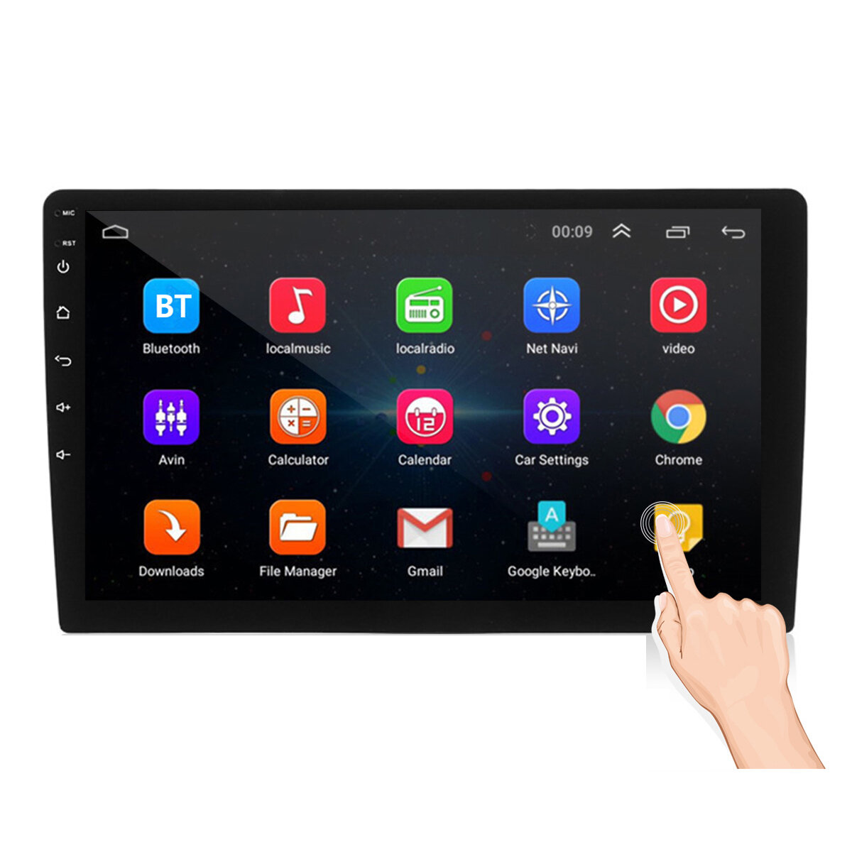iMars 9 Inch 2DIN Android 8.1 Car Stereo Radio Quad Core 1+16G 2.5D IPS Touch Screen GPS WIFI FM bluetooth DVR
