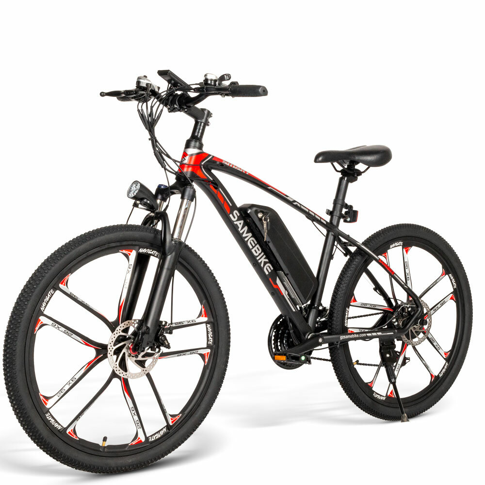 [EU Direct] SAMEBIKE MY-SM26 350W 48V 8Ah 26inch Electric Bike 30km/h Top Speed 80km Mileage Range Max Load 150kg