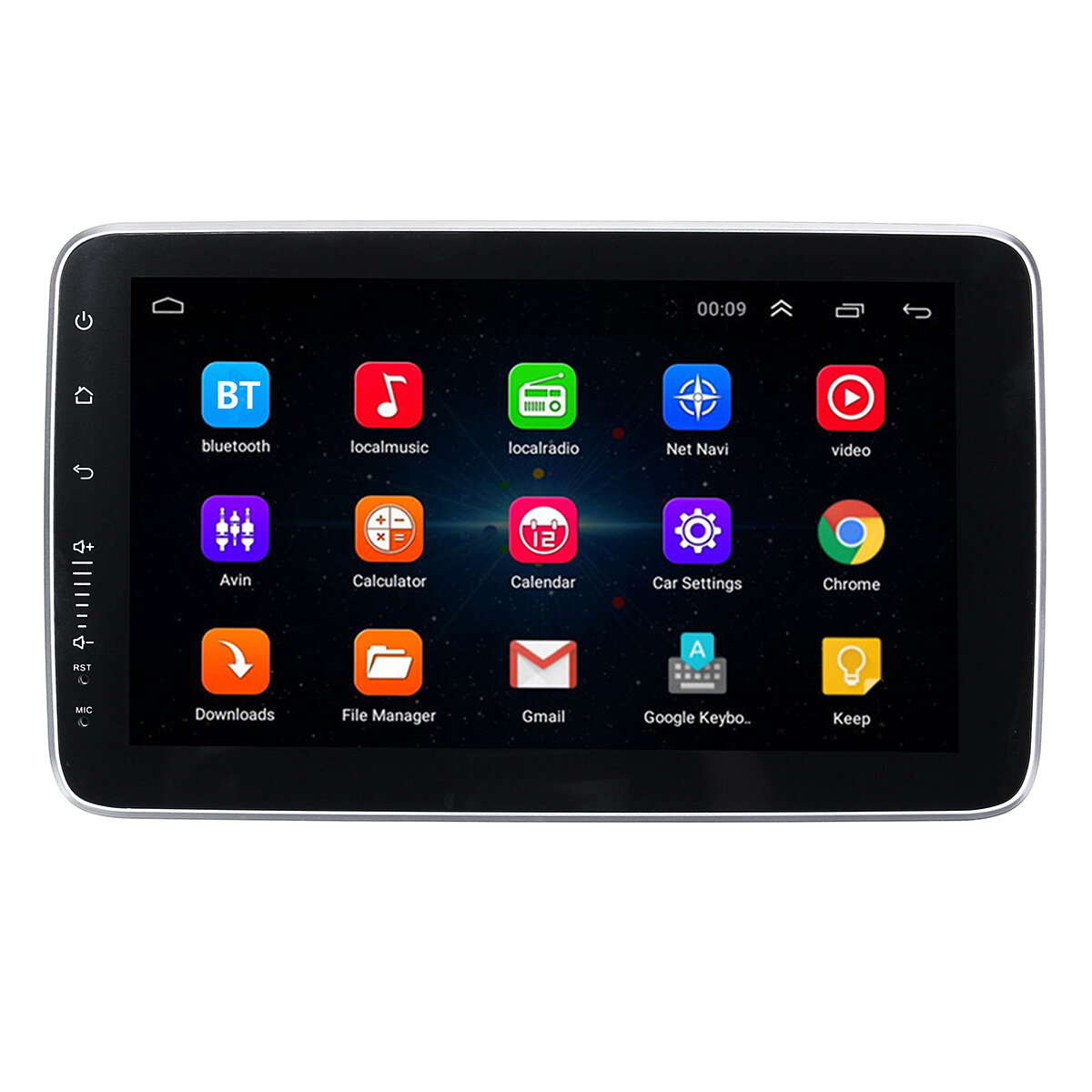 9 Inch 1 DIN for Android Car Stereo Audio Adjustable Screen MP5 Player 8 Core 1+16G/2+32G WIFI GPS FM