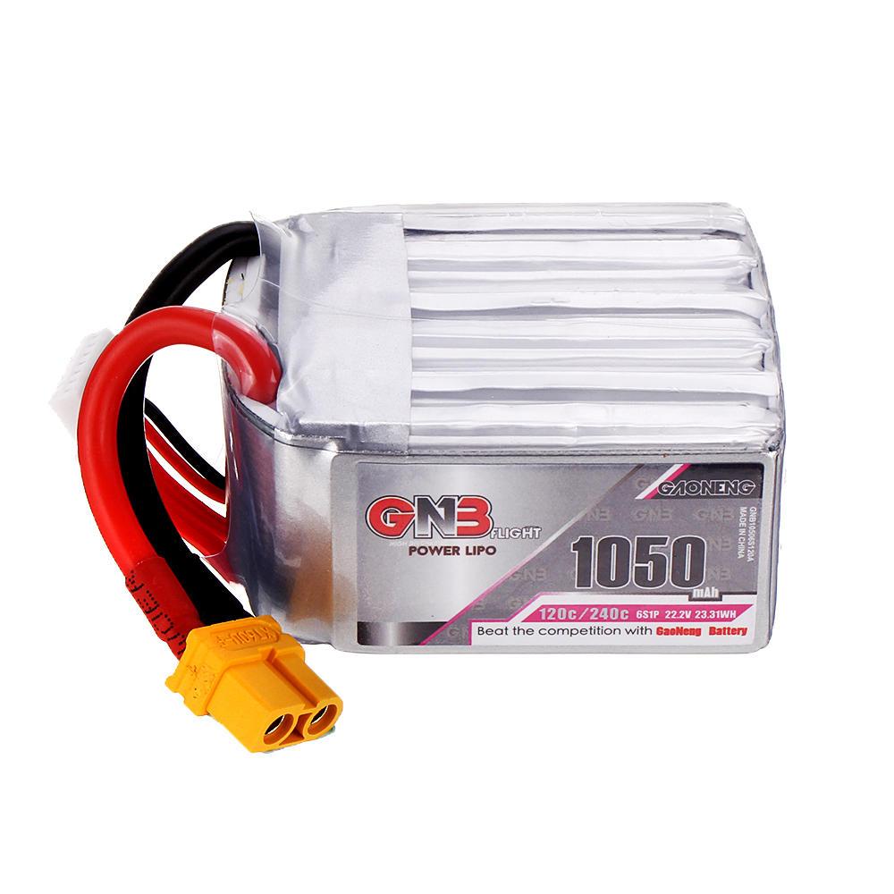 Gaoneng GNB 22.2V 1050mAh 120C/240C 6S Lipo Battery XT60 Plug For FPV Racing Drone