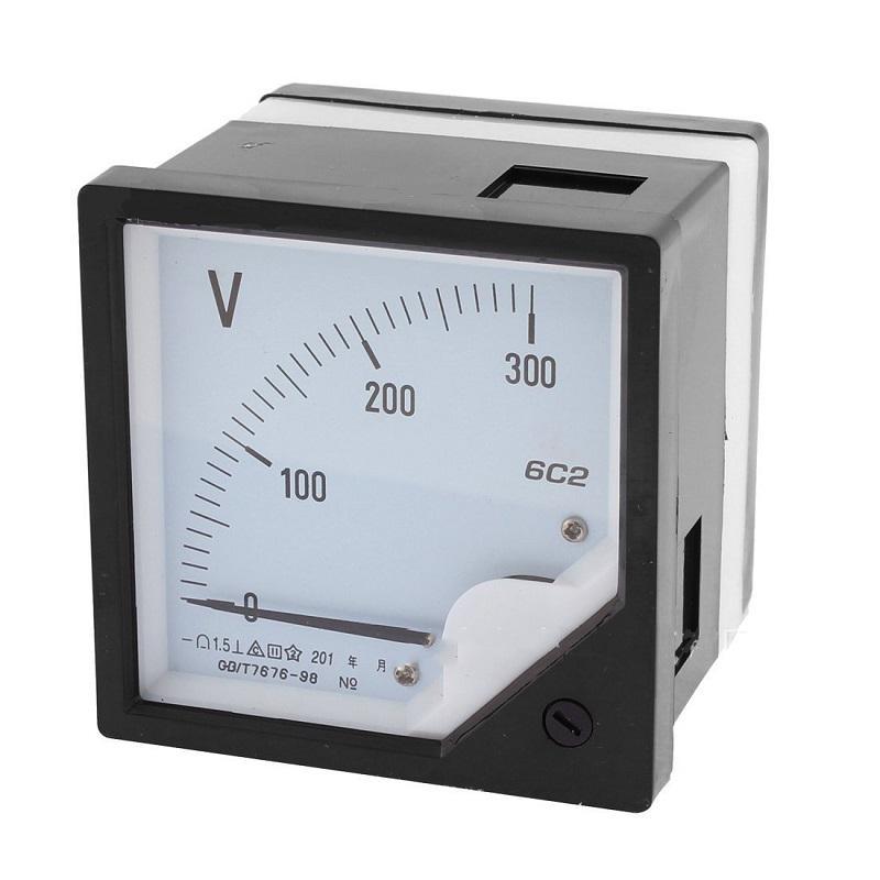6C2 DC Volt Meter10V 30V 50V Panel Analog Voltmeter Voltage Meter Electric Meters 80*80mm фото