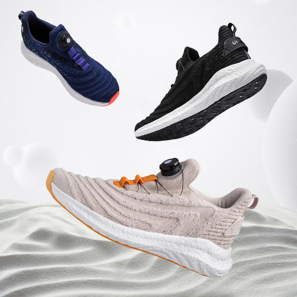 Uleemark U-lacer Rotating Buckle Shock Absorption Running Shoes Two-color Intelligent Night Light Breathable Sports Men Sneakers From Xiaomi Youpin