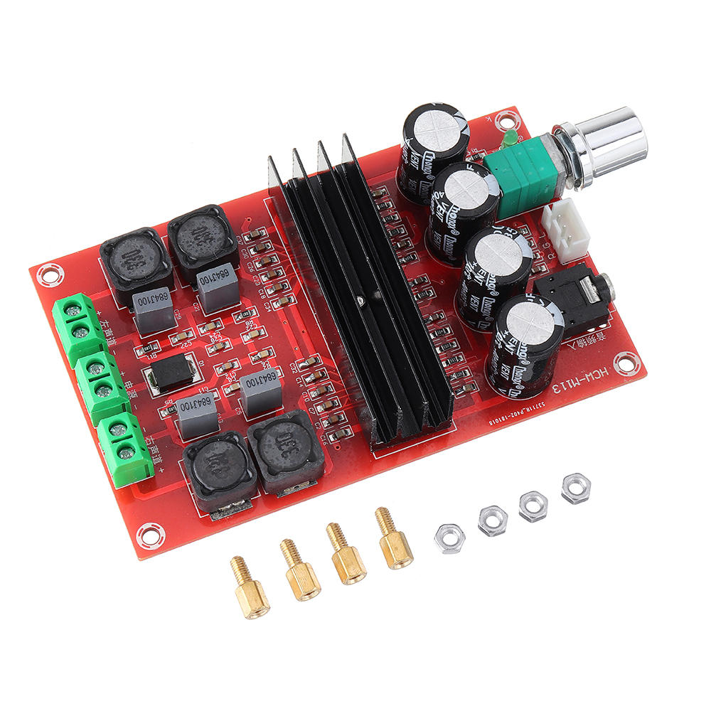 2x100W XH-M190 TPA3116 D2 Dual Channel Digital Audio Amplifier Board for TPA3116D2 Two Channel Module 100W+100W 12-, Banggood  - buy with discount