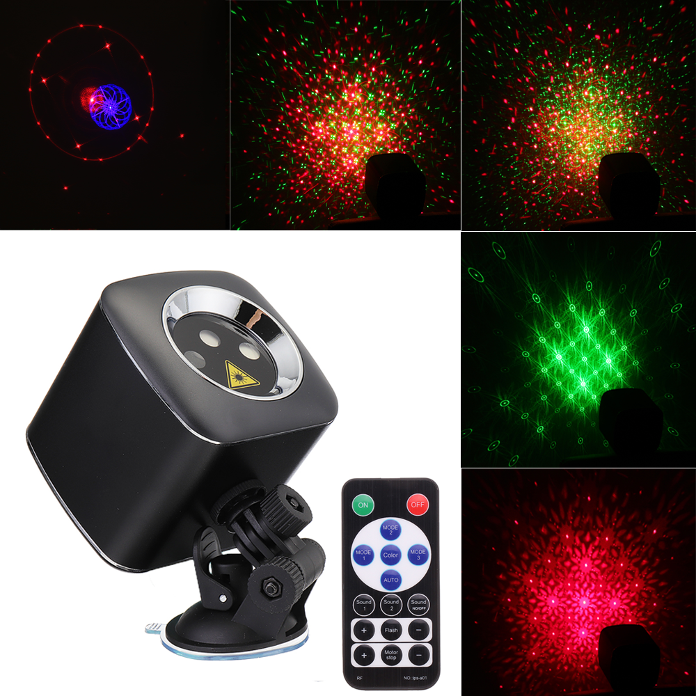 Mini 32 Patterns RGB LED Stage Lighting Effect Portable USB Light Projector for Wedding Birthday DJ Disco Party