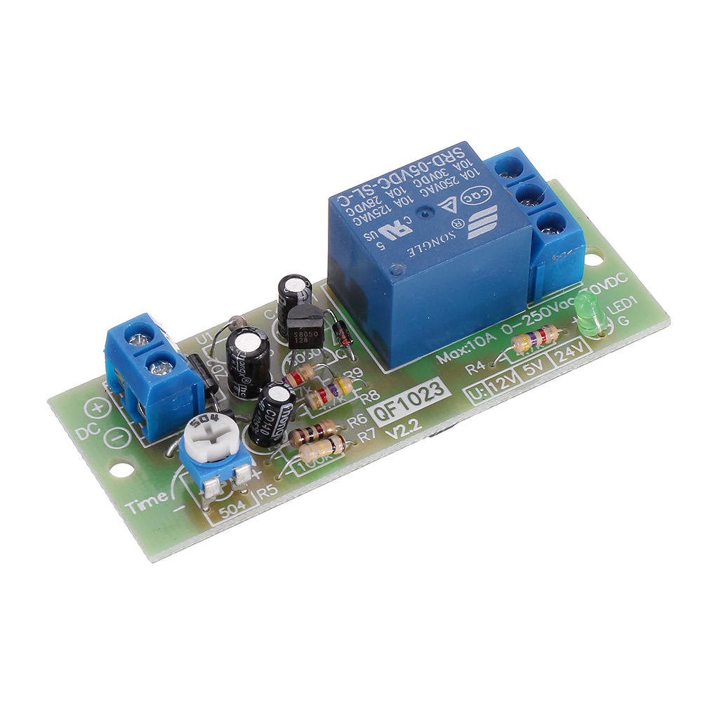 QF1023-A-10S Timing Relay Delay Switch Relay Delay Timer Switch Timing Relay 10S Adjustable, Banggood  - buy with discount