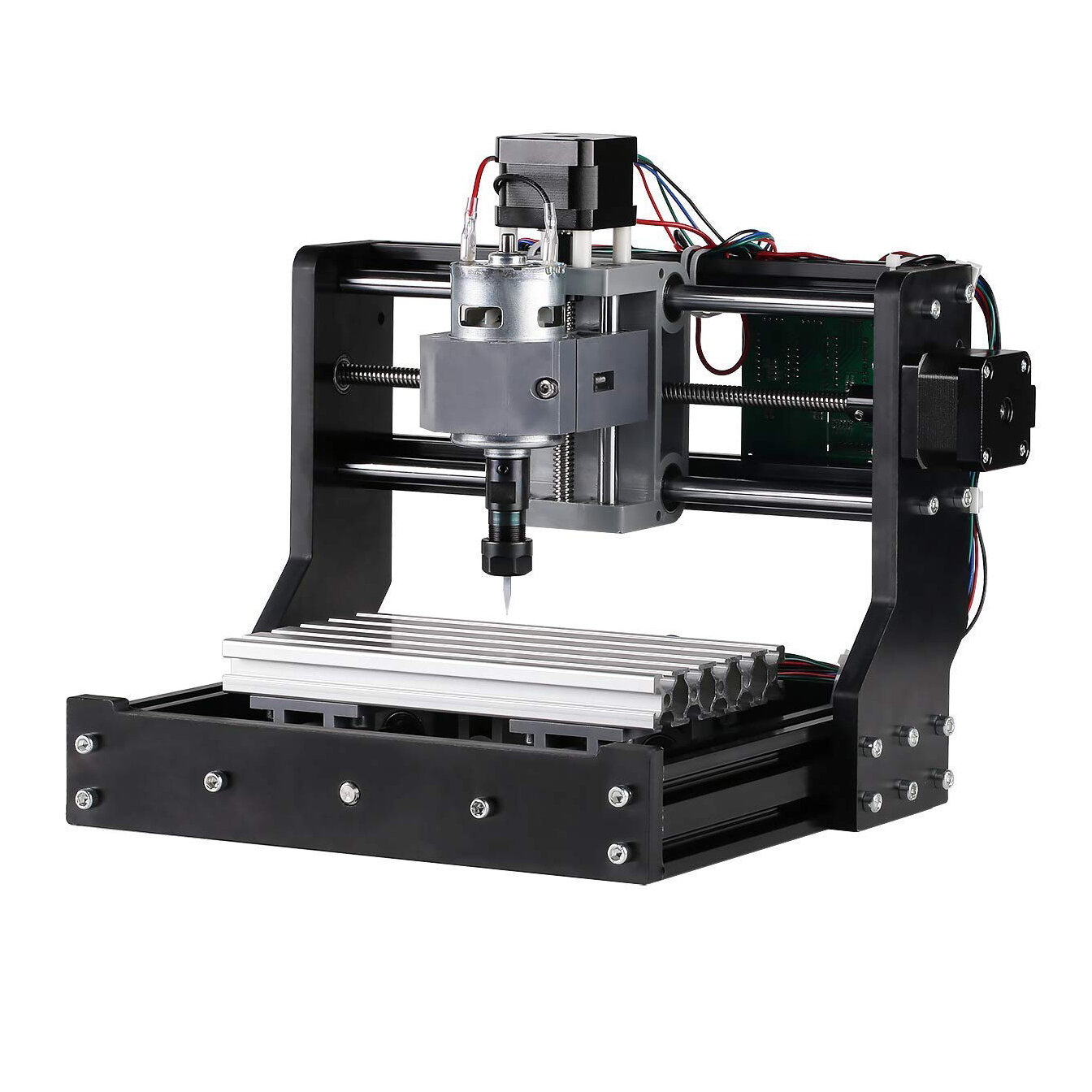 Upgrade Version 1810 GRBL Control Mini DIY CNC Router Standard Spindle Motor Wood Laser Engraving Machine Spindle Motor PCB PVC Milling Engraver Wood Router Engraver