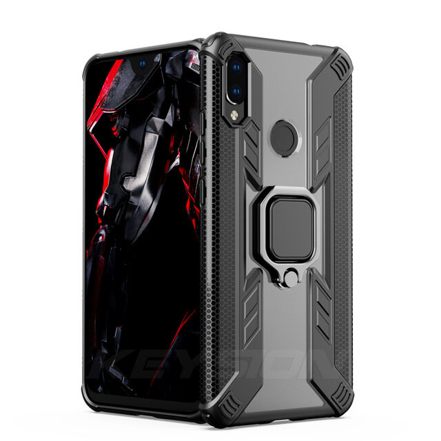 Bakeey Armor Shockproof Ring Holder Hard PC Protective Case For Xiaomi Redmi Note 7 / Redmi Note 7 PRO