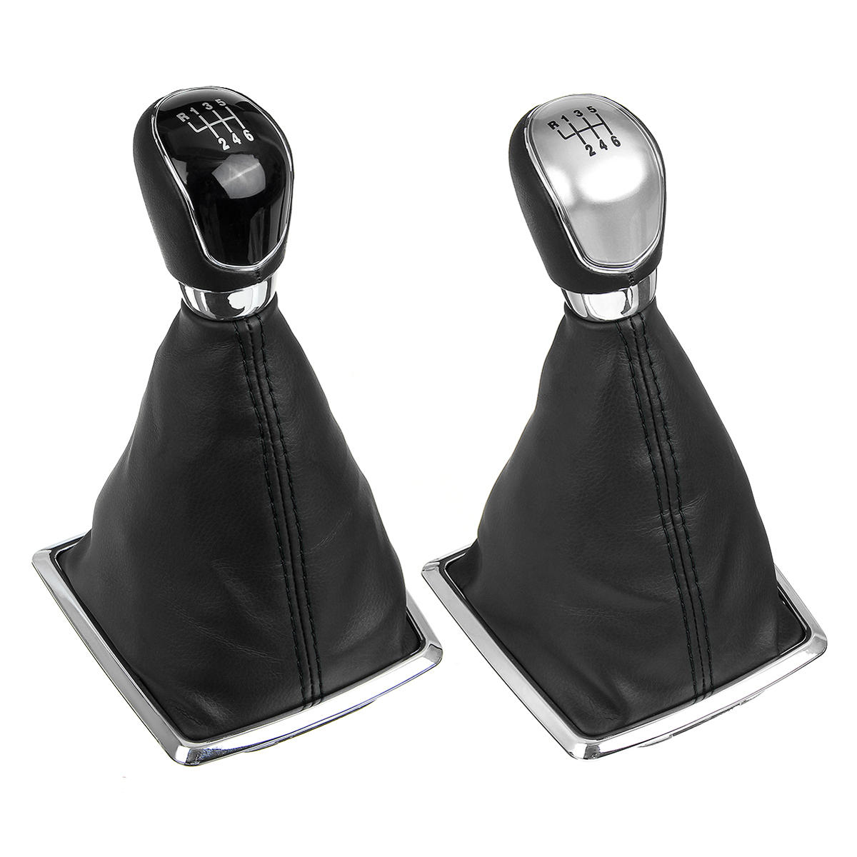 6 Speed MT Gear Stick Shift Knob with Dust Boot Cover For Ford Focus 2005-2012