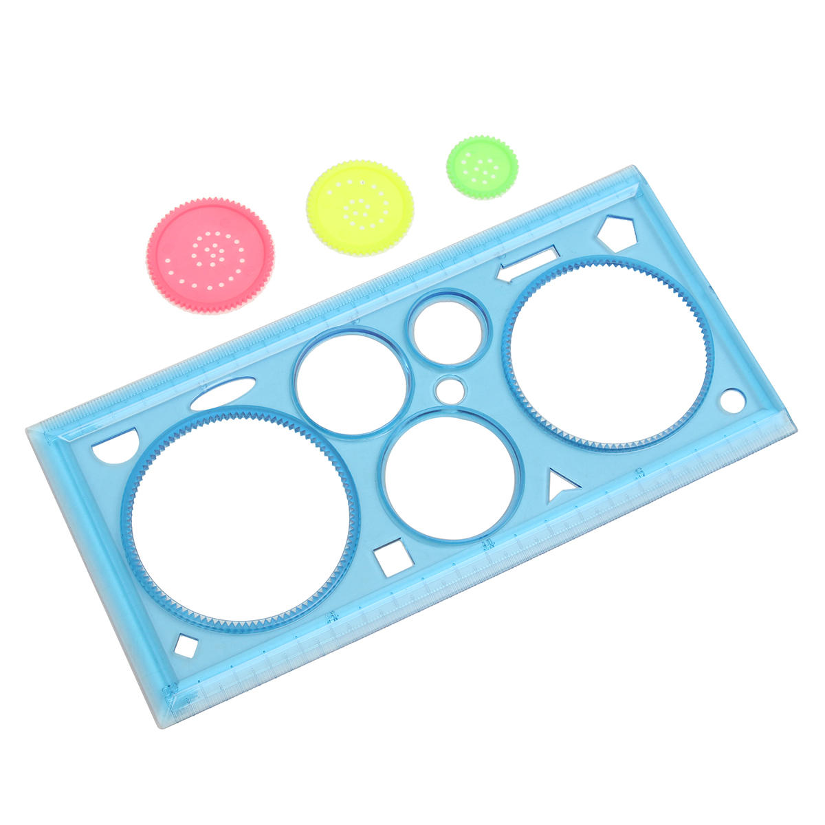 1 Pc Multi-functional Puzzle Ruler Set Spirograph Geometric Painting Template Ruler Drafting Tools For Students Drawing Toys Children Learning Art Tools