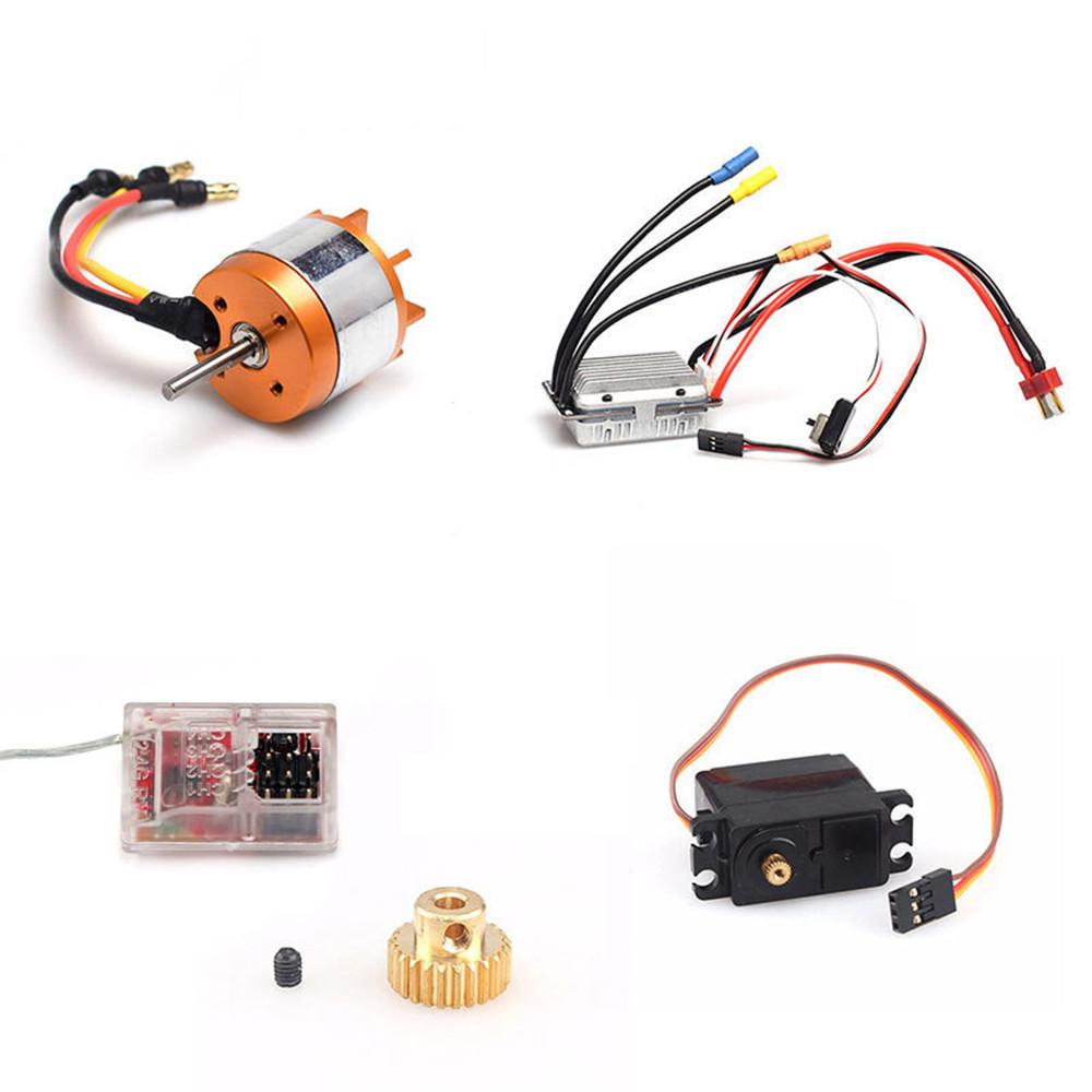 5PCS Feiyue Upgraded Brushless Kit Motor ESC Servo Receiver Gear for FY03 FY03H FY05 Vehicles