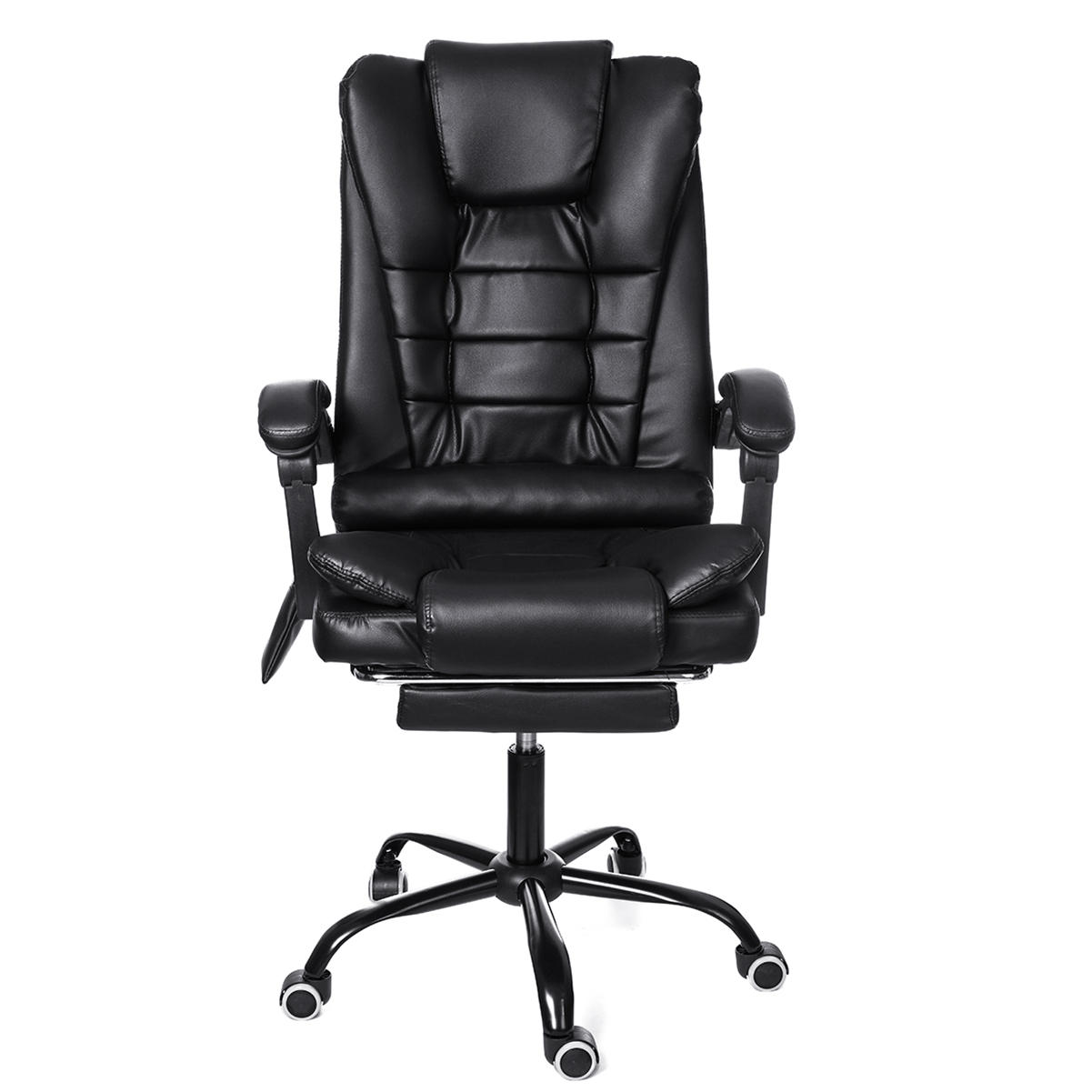 Ergonomic High Back Reclining Office Boss Chair Adjustable Height Rotating Lift Chair PU Leather Gaming Chair Laptop Desk Chair with Footrest and Phone Bag