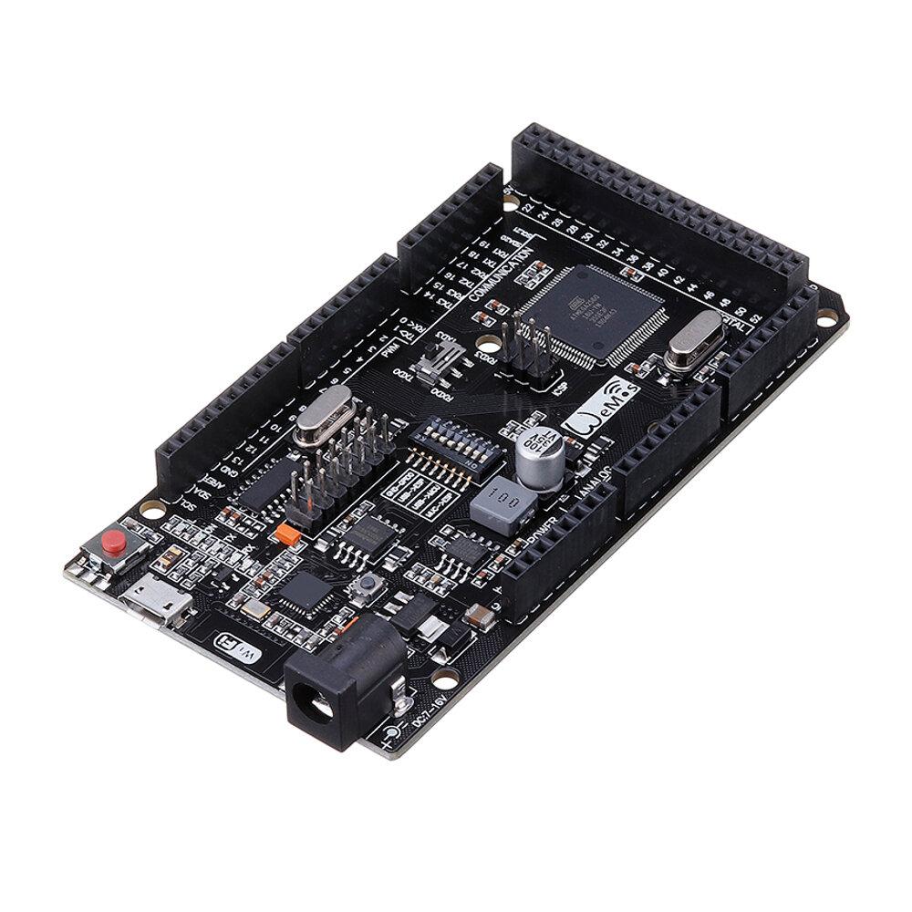 Wemos® Mega + WiFi R3 ATmega2560 + ESP8266 32Mb Memoria USB-TTL CH340G Compatible Para Arduino Mega NodeMCU ESP8266