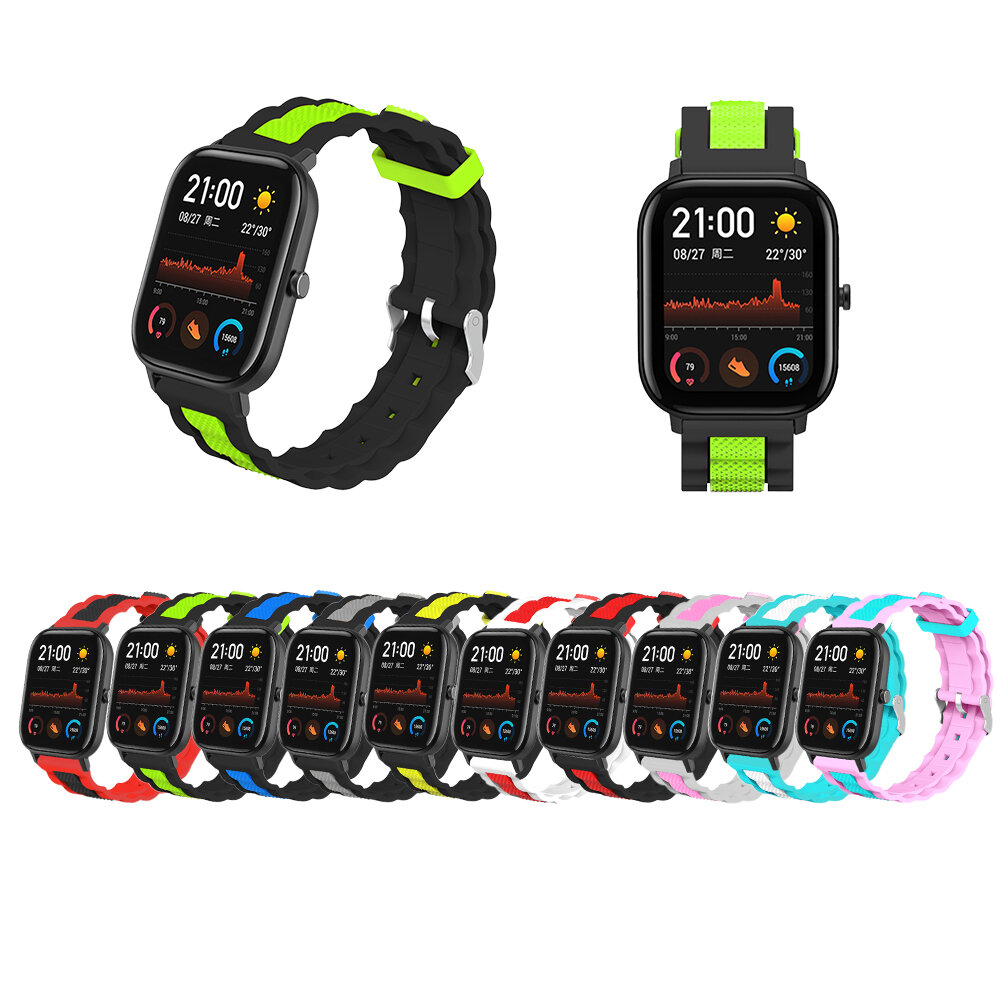 20mm Waves Shape Watch Band Watch Strap Replacement for Amazfit GTS Smart Watch