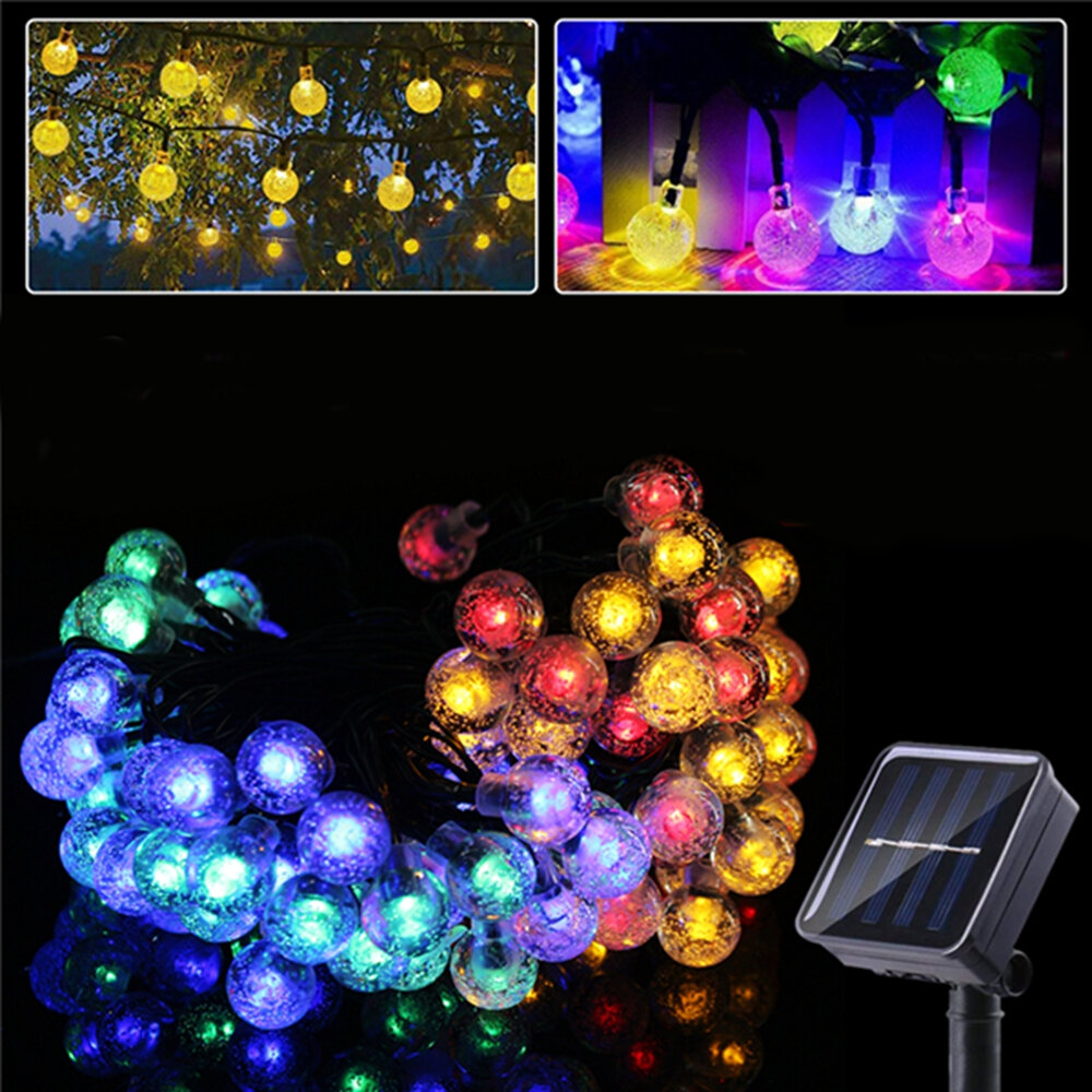 Outdoor Solar Powered 6.5M 30 LED Bulb String Light Garden Holiday Christmas Wedding lamp