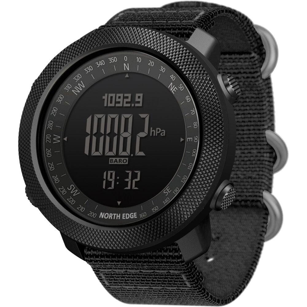 NORTH EDGE Apache2 Altimeter Barometer Compass Temperature Display 50m Waterproof Outdoor Sport Digital Watch
