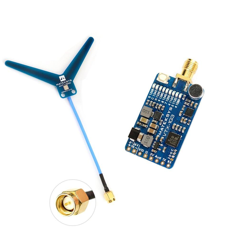 MATEKSYS VTX-1G3-9 1.2Ghz 1.3Ghz 9CH International INTL Version FPV Video Transmitter for RC Drone Goggles Monitor