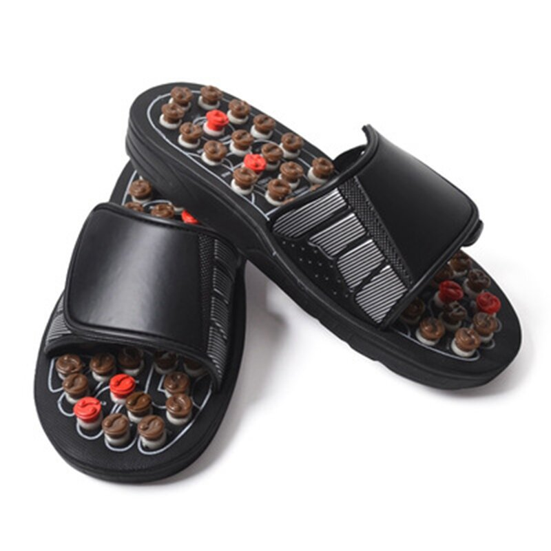 Foot Massage Slippers Acupuncture Therapy Massager Shoes Foot Acupoint Activating Reflexology Massageador Sandals For Feet Care