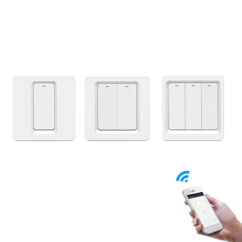 Nút nhấn thông minh Geekcreit® 1/2/3 Gang WiFi Cuộc sống thông minh / Tuya APP Điều khiển từ xa hoạt động với Alexa Google Home để điều khiển bằng giọng nói