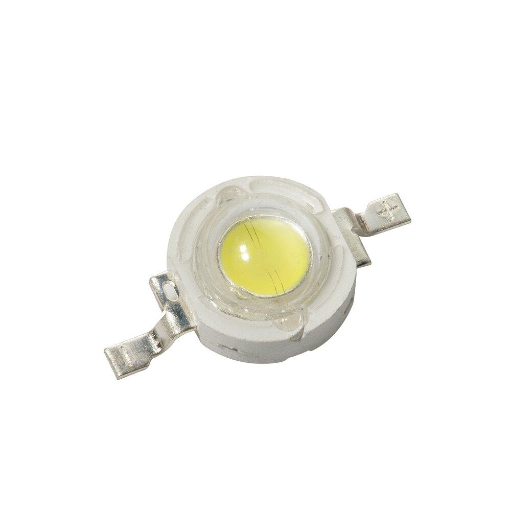 50PCS 1W High Power White Color 110-120LM LED Light Beads DC3V