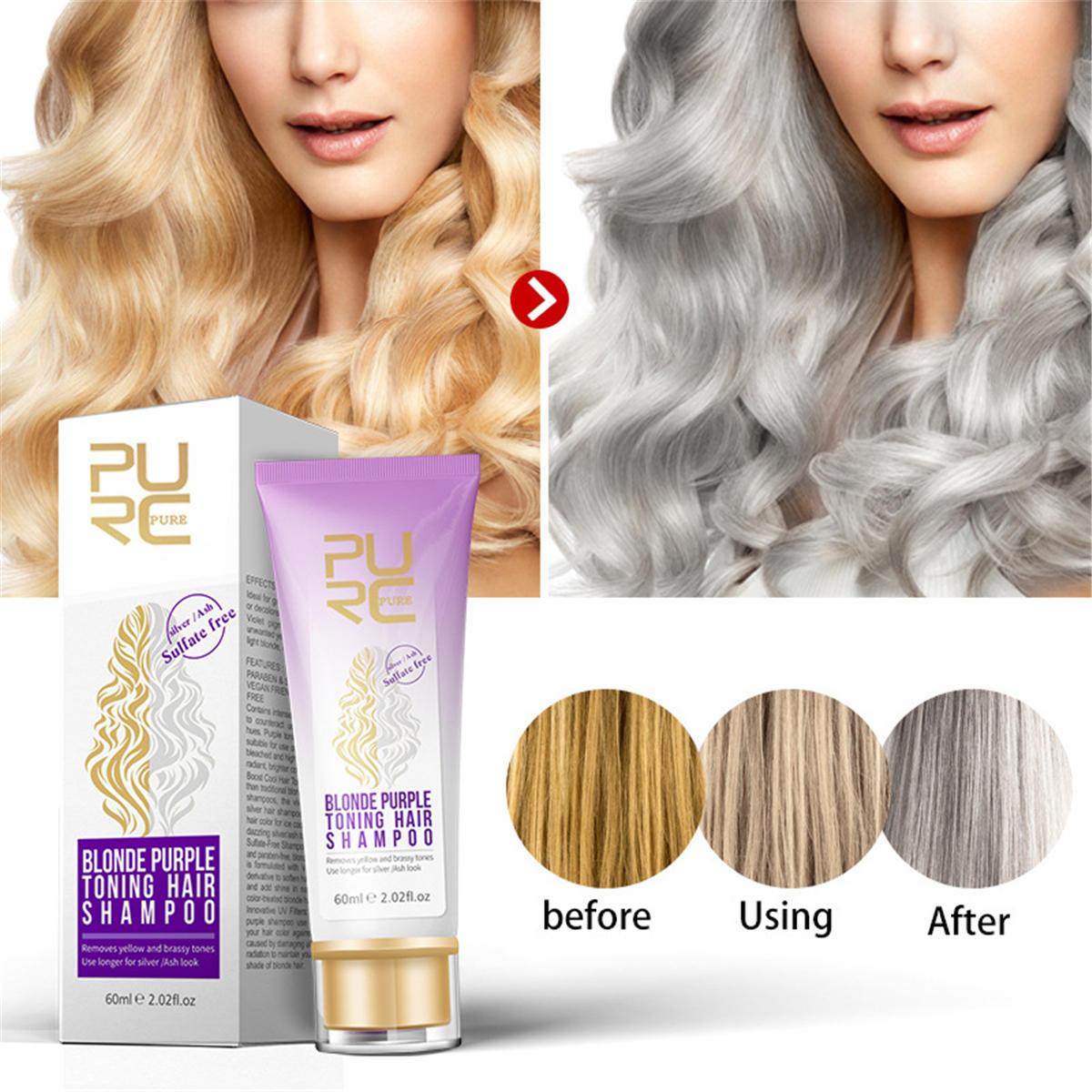 PURC PURPLE SHAMPOO FOR BLONDE SILVER GRAY HAIR Conditioners Shampoo