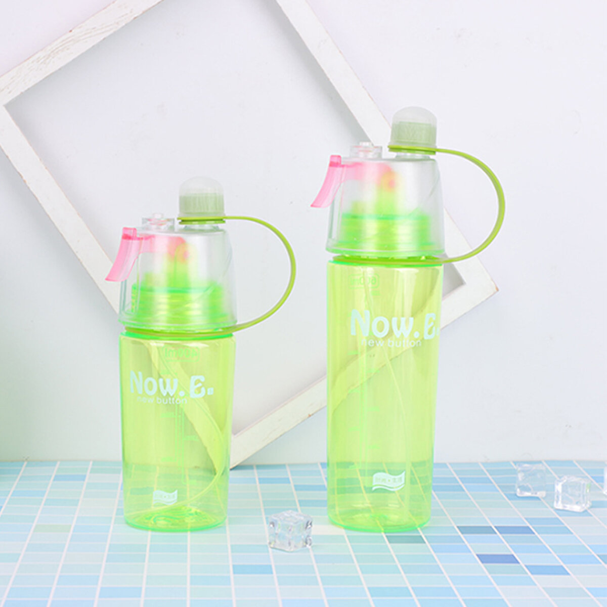 400//600ML Water Bottle With Straw Drink Spray Cup Climbing Cycling Outdoor Sport