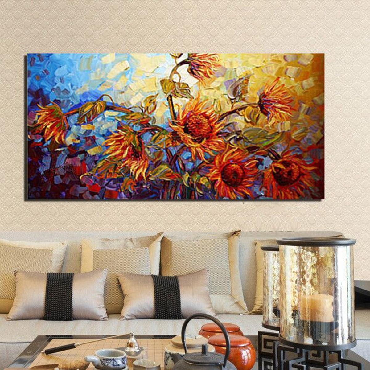 120x60см Абстракция Цветочный принт на Холсте Масло Картины Домашнего Декора Стен Без Рамы