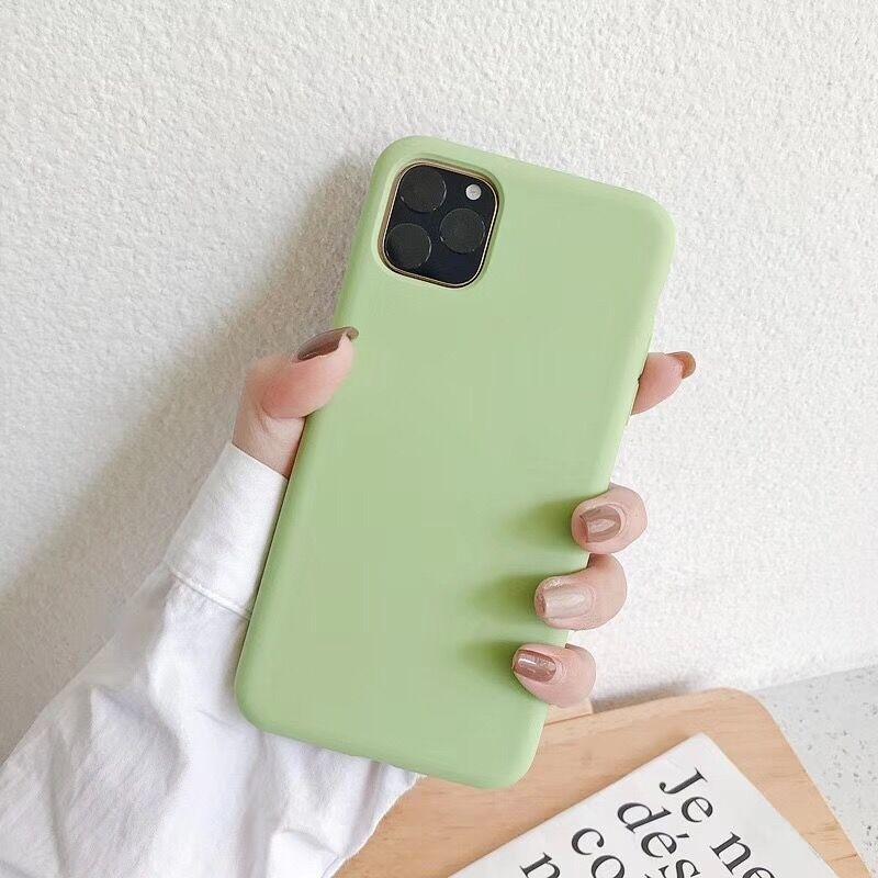 Bakeey glatt støtsikker Soft flytende silikon gummi bakdeksel beskyttelsesetui til iPhone 11-serien
