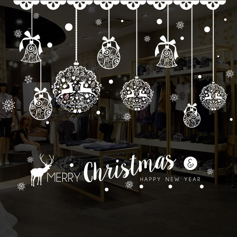 Miico XH7243 Christmas Sticker Home Decoration Sticker Window and Wall Sticker Shop Decorative Stickers, Banggood  - buy with discount