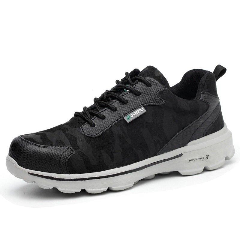Scarpe antinfortunistiche TENGOO Scarpe da lavoro Scarpe sportive da uomo con punta in acciaio Scarpe da corsa traspiranti