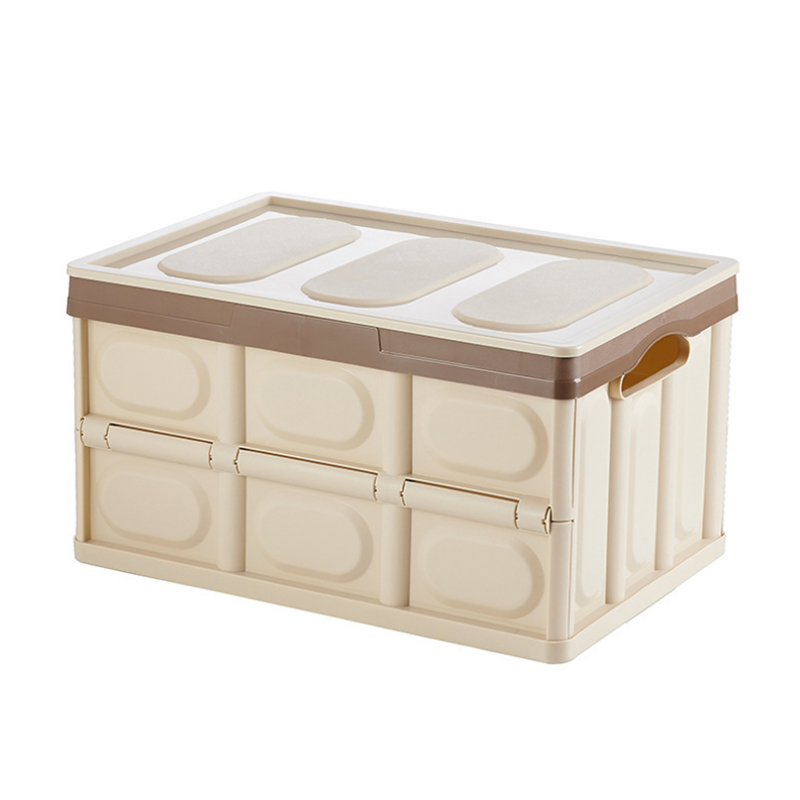 Collapsible Storage Box Multi-Function Plastic Household Consolidation Box for Wardrobe Car Trunk Desktop Organizer