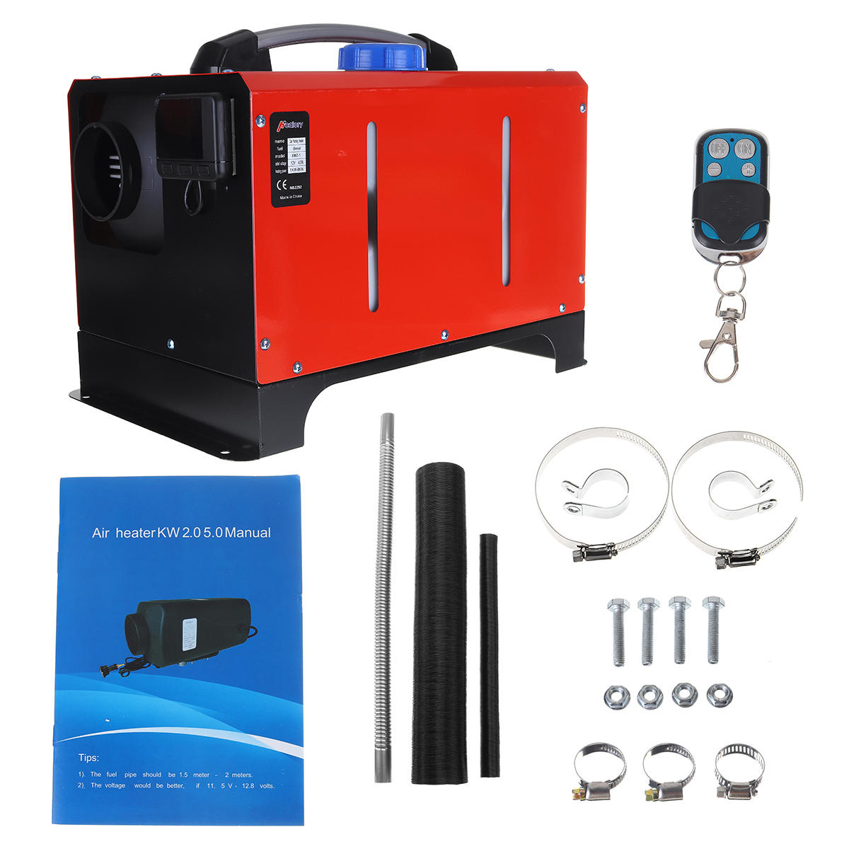 All in One 12V 8KW Diesel Air Heater Car Parking Heater Air Conditioner Machine Remote Control LCD Display for Truck Boat