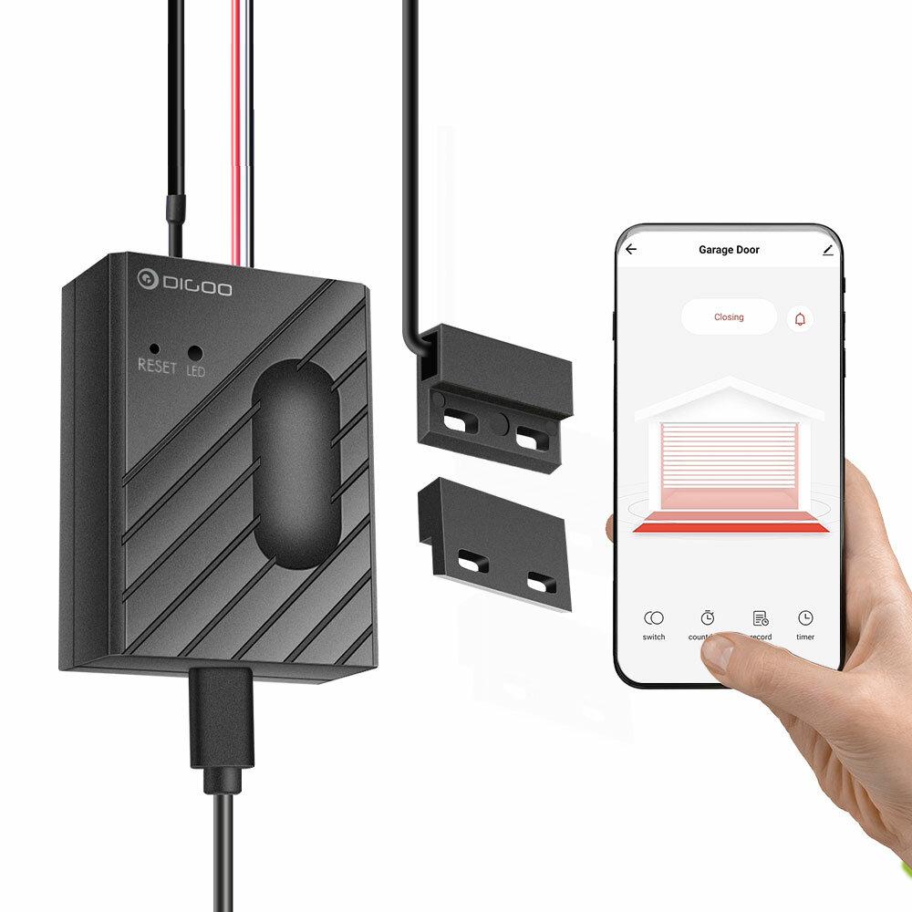 DIGOO DG-CK400 Pintu Garasi Motor Wifi Cerdas Kontroler Sensor APP Remote Control Waktu Beralih Bekerja Dengan Tuya Amazon ...