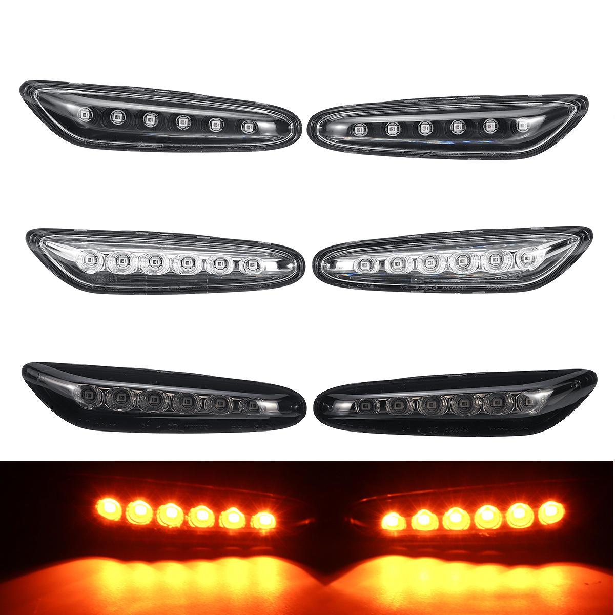 LED Seitenmarkierungs Blinker Repeater Lampen Gelb Paar für BMW E46 E60 E81 E83 E87 E90 E91