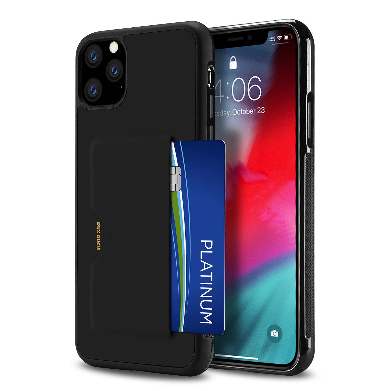 DUX DUCIS med kredittkortspor PU skinn støtsikker beskyttelsesetui til iPhone 11 Pro Max 6,5 tommer