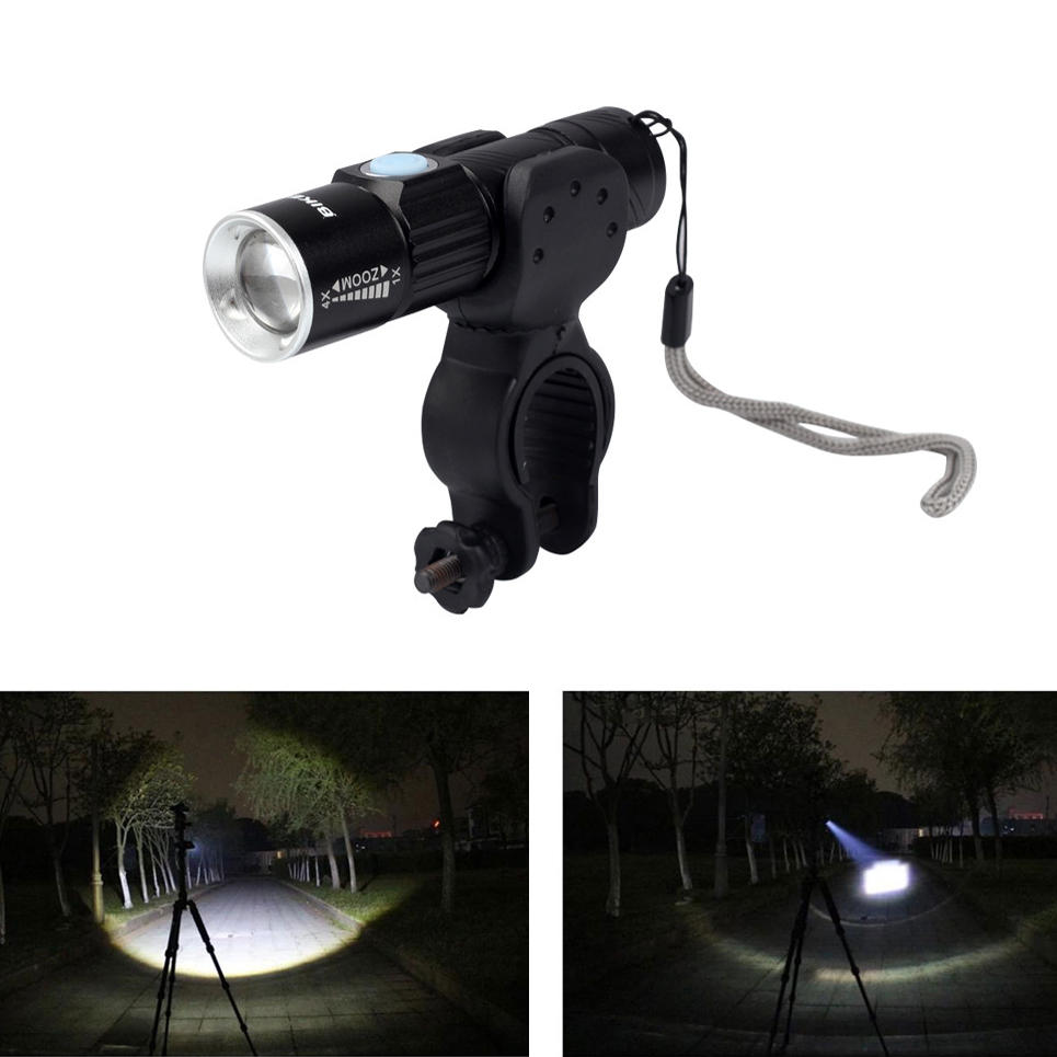 BIKEIN A51LT 650LM USB Rechargeable Waterproof LED Bike Front Light Ultralight Warning Night Light