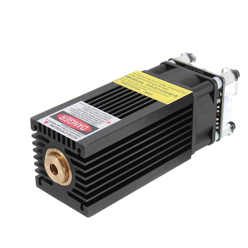 7000mW 445nm ब्लू लेजर मॉड्यूल 7W फिक्स्ड फोकस TTL और PWM मॉड्यूलेशन w / हीट सिंक 2.54-3P + 2P DIY लेजर एनग्रेवर EleksMaker के लिए